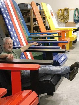 Doug Woodside, builder of the Big Chairs of Kingston