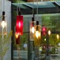 Glass pendant lights by VanLumens Architectural Lighting