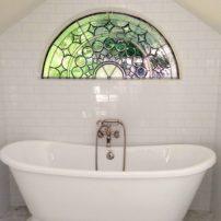 Decorative window design by Mesolini Glass Studio