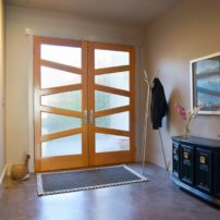 Rain-glass entry door by Simpson Doors