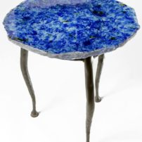 Decorative glass table top by Evolution Glass (Photo courtesy Carl Hutzlerindow)