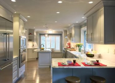 Optimized Space — Larger kitchen designed for entertaining and efficiency