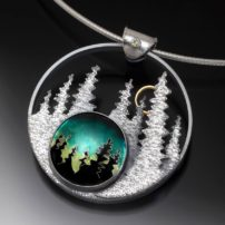 """Breathe the Night"" enameled pendant"