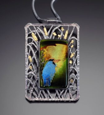 """Heron in Wait"" pendant"