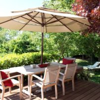 Multiple outdoor vignettes allow enjoyment for everyone.