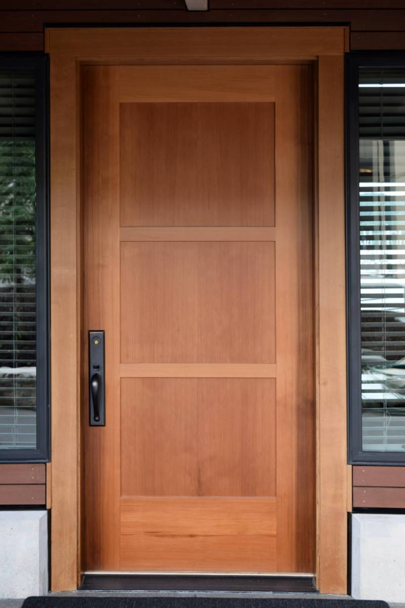 One-of-kind solid Western red cedar door from the supply at Pocock Rowing Center & WSHG.NET | Precise and Personable \u2014 The \u0027Door Doctor\u0027 is In ...