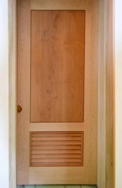 Hard maple and alder louver door