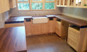 Custom walnut countertop for entire kitchen or island top
