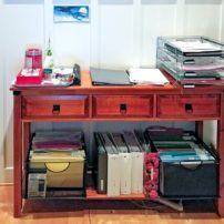 Sandra Andrews-Strasko's buffet desk solution