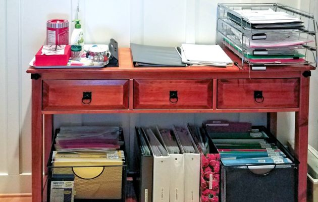 Sandra Andrews-Strasko's buffet desk solution
