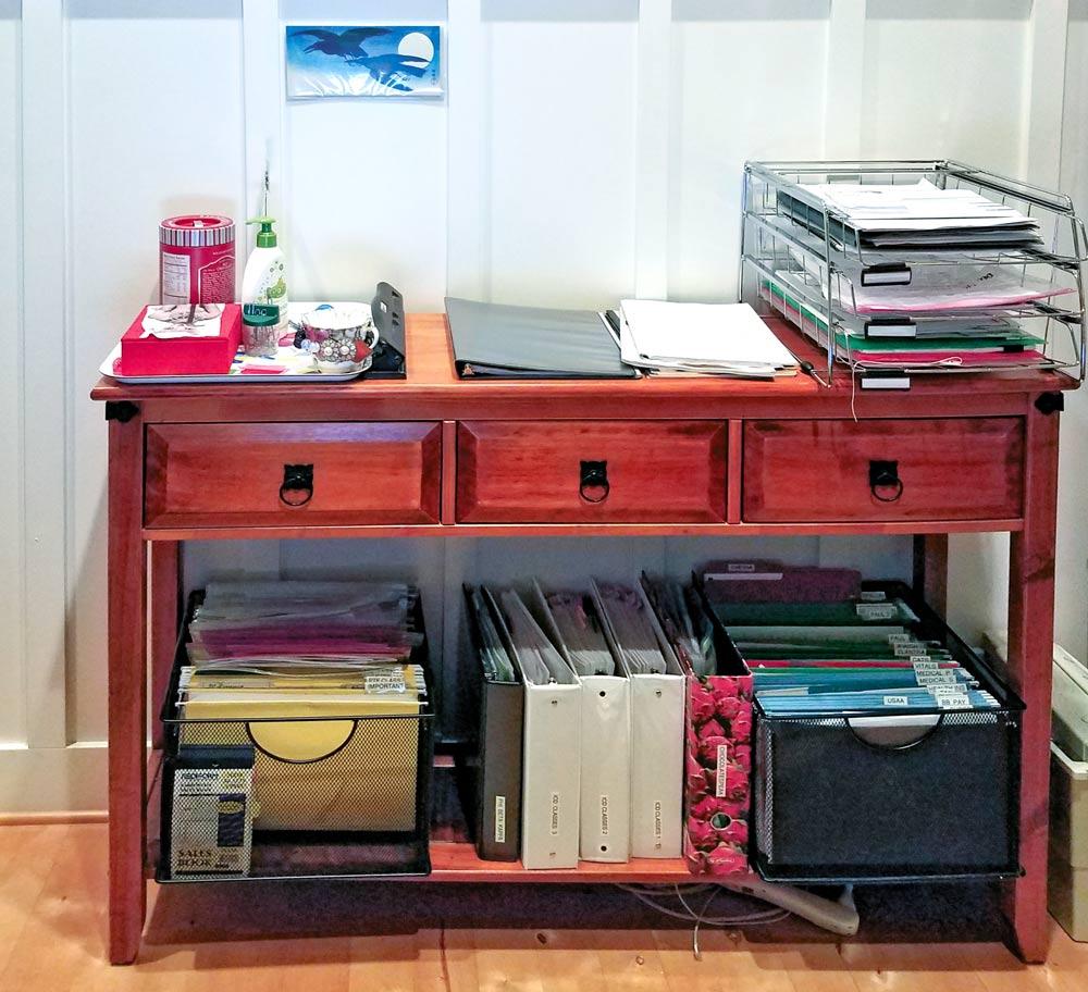 Sandra Andrews Straskou0027s Buffet Desk Solution