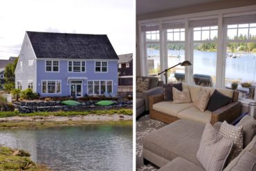 John Blanchard's waterfront home at Miller Bay offers a variety of water-related activities, in addition to dinner.