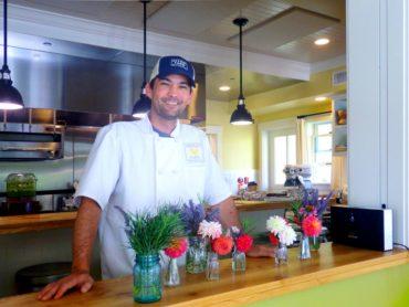 Chef Tad Mitsui in the farm kitchen