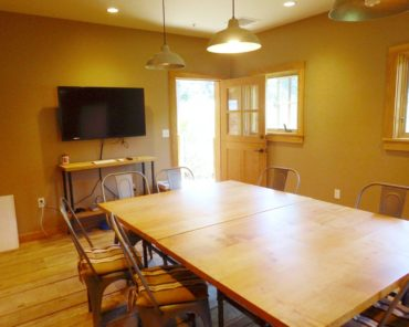 The farm's barn is available for classes and meetings.