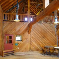 The barn is a functional work of art.