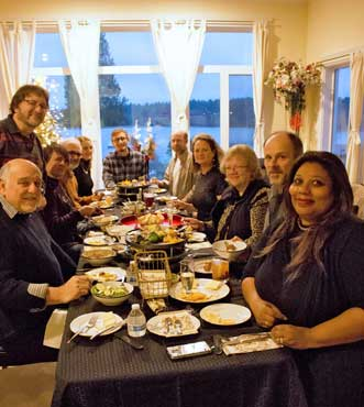 A raclette New Year's Eve party with friends