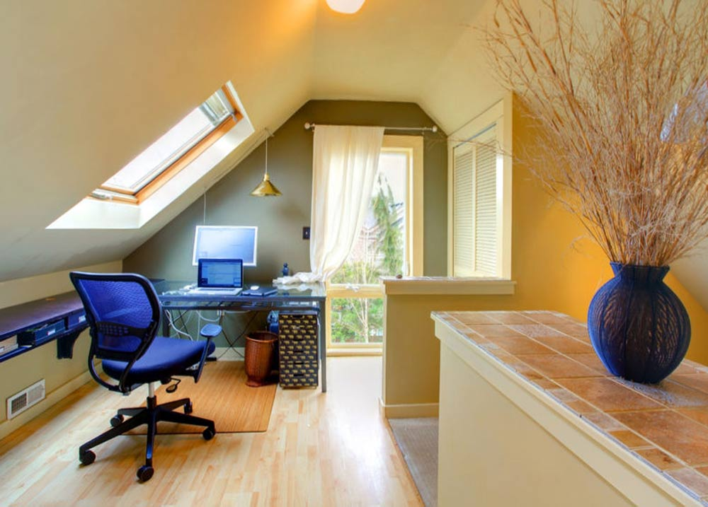 garden home office cabin homeofficeatticjpg wshgnet blog carving out space for home office at