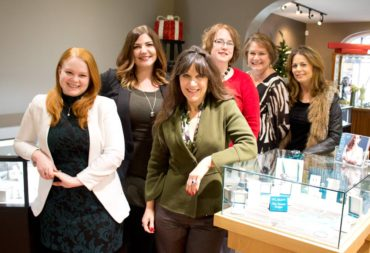 Sales Staff L-R: Sarah Addington, Jessica Endresen, Debi Schneider, Megan Cooper, Cathy Aslin and Daniella Black
