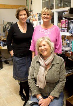Goldsmiths L-R: Nanz Aalund, Jane Corey and Jennie Thomas