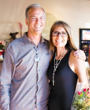 Steve and Lisa Stirrett at home for the holidays