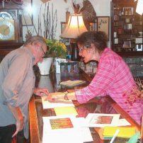 Annabella Serra with customer Walter
