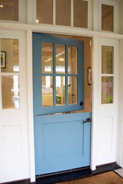 Barn-style front door