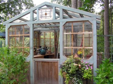 A whimsical greenhouse elevates the kitchen garden. Bainbridge in Bloom, 2007.