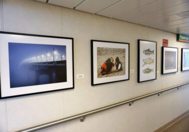 Local artist gallery on MV Chimacum