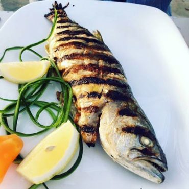 Delicious catch of the day, sea bass from the Black Sea