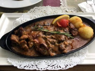 Traditional lamb stew with potatoes