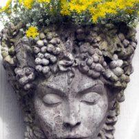 Goddess Aphrodite head planter