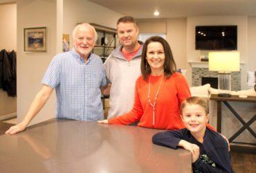 Nick Parkinson, grandfather; Darryl and Dawnita Parkinson with their son, Conor
