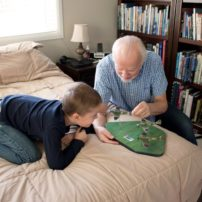 Nick and Conor Parkinson playing games
