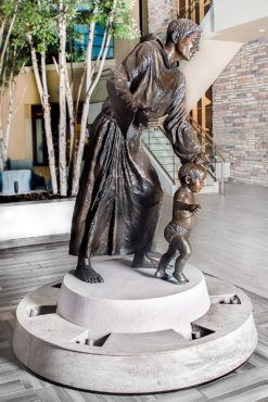 """""""St. Anthony's Guiding Hand,"""" 2015, bronze finished."""