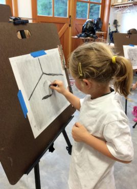 Carter Kuluz in drawing class (Photo courtesy Jessica Kuluz)