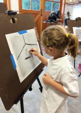 Carter Kuluz in drawing class (Photo courtesy Jessica Kuluz)