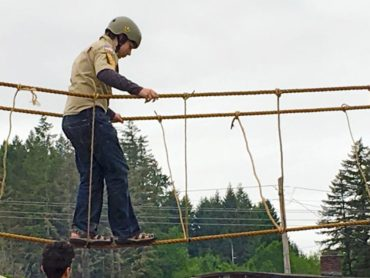 Boy Scouts Troop 220 will set up its rope bridge at the fair — are you brave enough to try it?