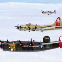 The B-24 Liberator, B-17 Flying Fortress and P-51 Mustang are among the aircraft that the Collings Foundation takes on tour. (Photo courtesy Collings Foundation)
