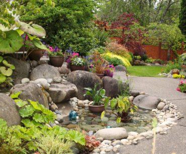 Front garden water feature