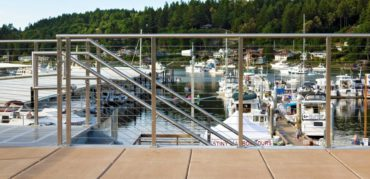 Rainier cable railing by AGS Stainless at Jerisich Dock, Gig Harbor