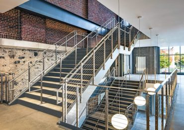 Rainier cable railing by AGS Stainless, Poly Prep Day School, Brooklyn, New York. Gordon Architects