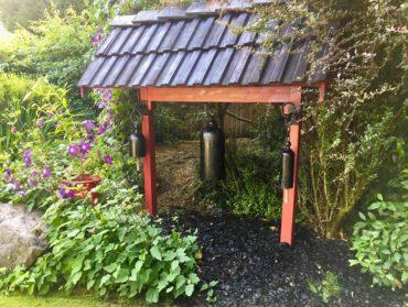 Pagoda in Claudia Thompson's garden