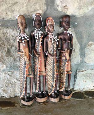 African wood carvings