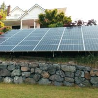 Solar array at home in Olalla