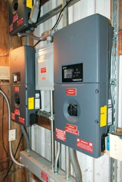 Inverters turn DC current into AC, usable for the home
