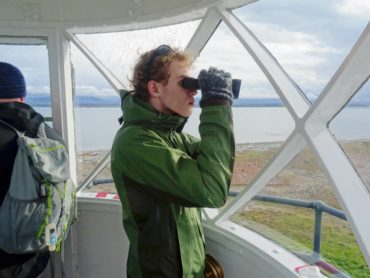 Like any Boy Scouts, Troop 220 makes camping a regular activity that takes the young men all around the state and sometimes beyond and there's always something fun planned, from hiking and biking to archery. Robert Quill takes in the view from the Lantern Room in the Dungeness Spit Lighthouse.
