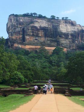 Sigiriya high on top of the mountain