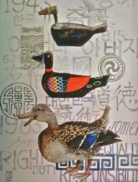 """""""My Journey"""" represents the artist's journey from past to present and Chinese symbolism."""