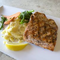 Grilled Pacific salmon