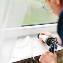 Making sure your windows and doors are caulked is a simple project that could save you money both on heating and cooling.
